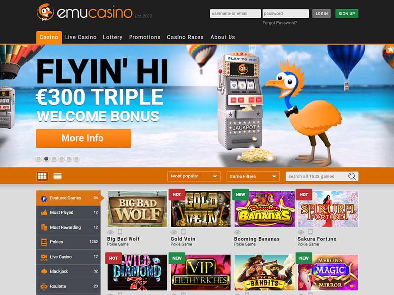 Emu Casino Review And Bonuses